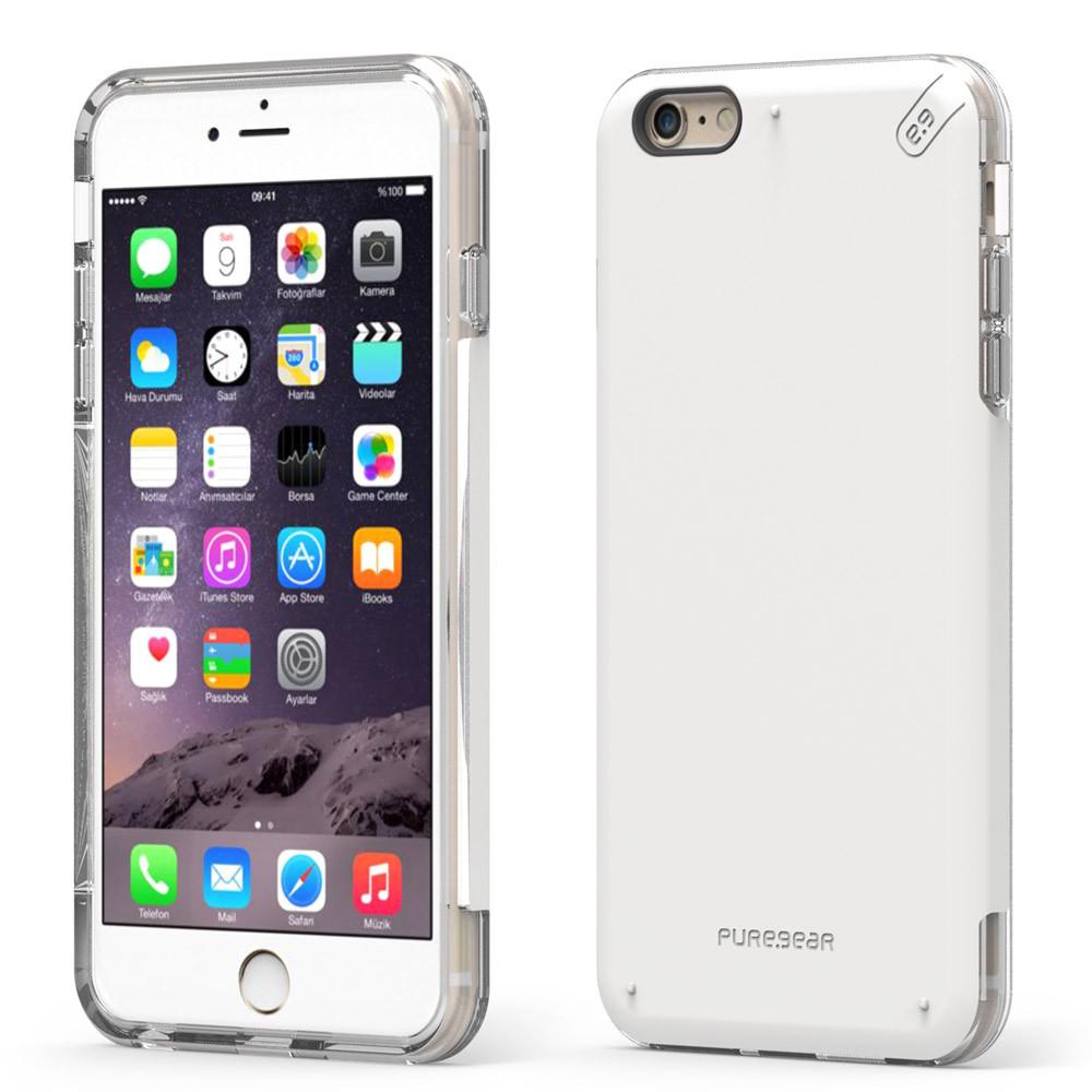 new styles 7ba68 7c8ca Puregear DualTek Pro Case for iPhone 6 - White / Clear
