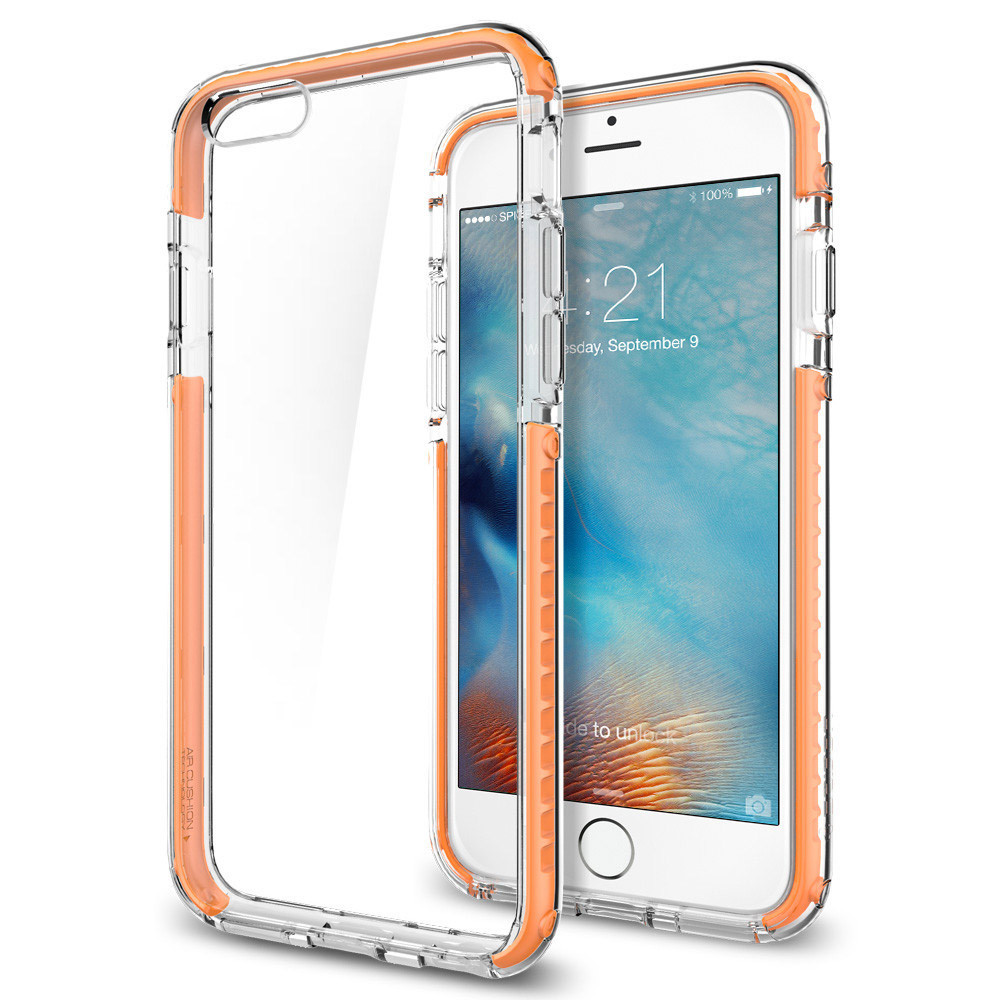 newest f73aa 554ad Spigen Ultra Hybrid Tech Case for iPhone 6S / 6 - Crystal Orange