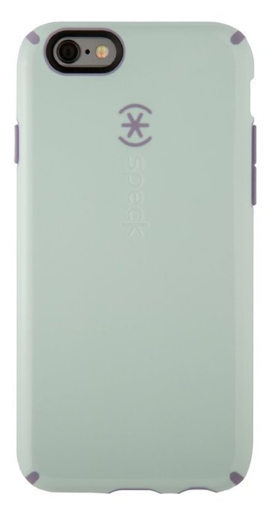 brand new a2169 89913 Speck CandyShell iPhone 6S / 6 Case - Overcast Blue / Heather Purple