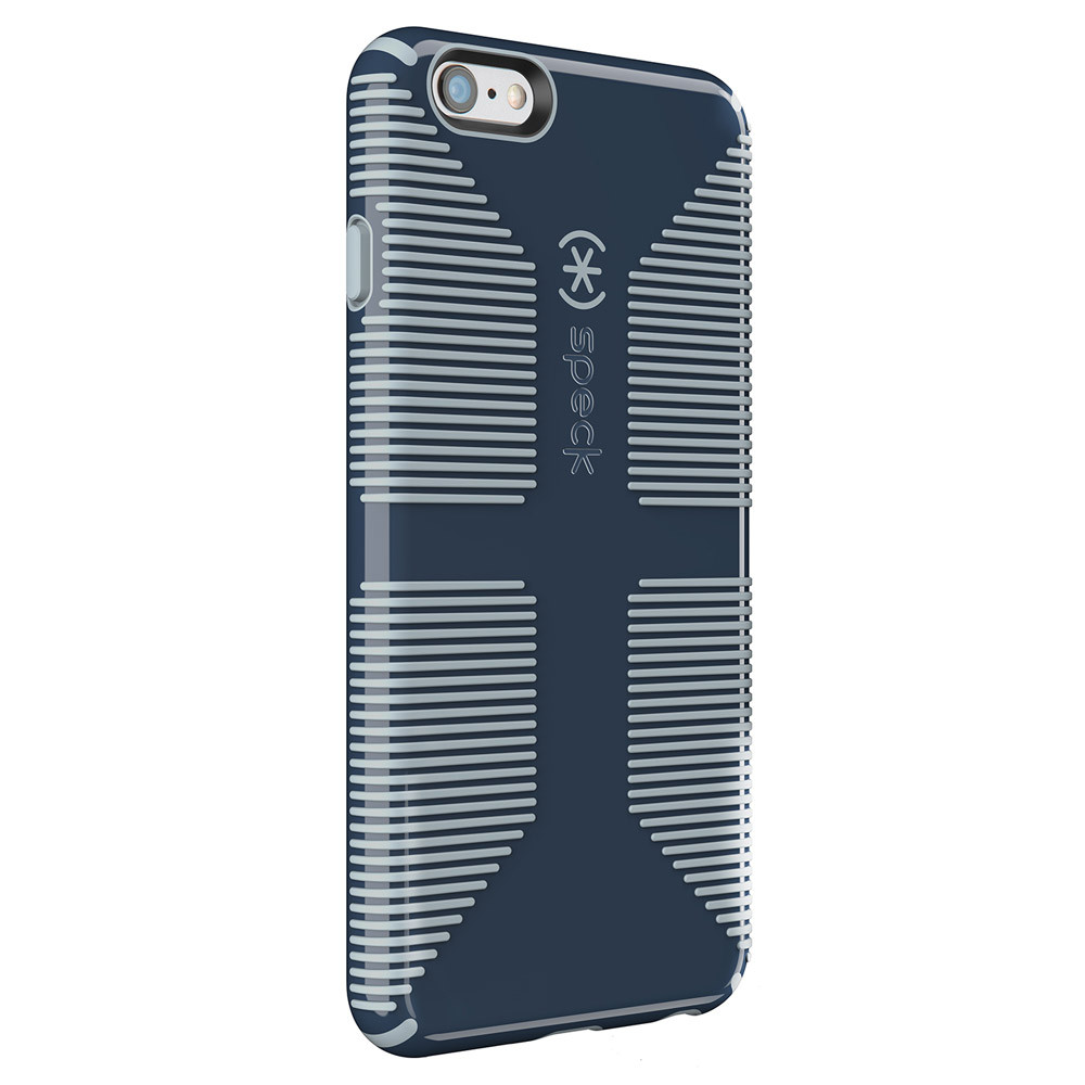 newest 30446 a6675 Speck CandyShell Grip Case for iPhone 6S / 6 - Shadow Blue / Nickel Gray