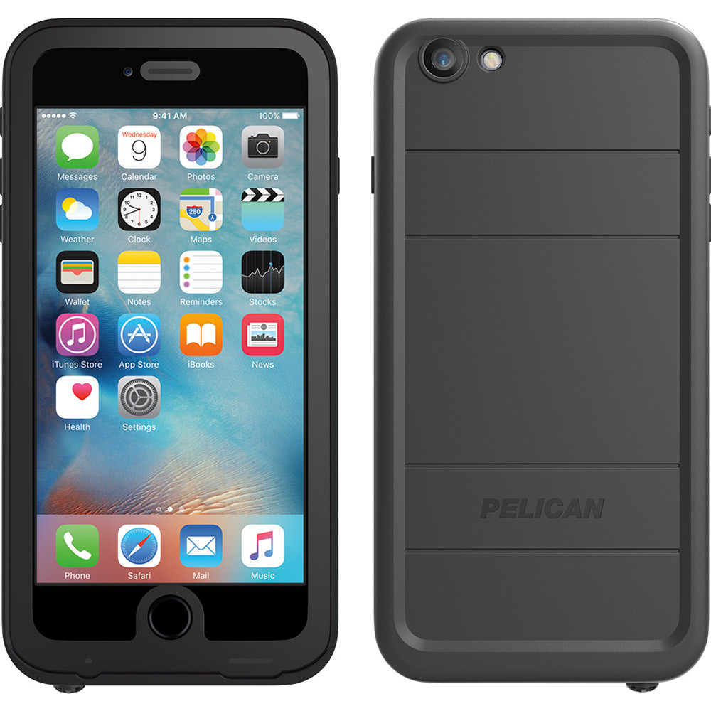 brand new 447bc 0654f Pelican Marine Series Waterproof Case for iPhone 6S Plus / 6 - Black