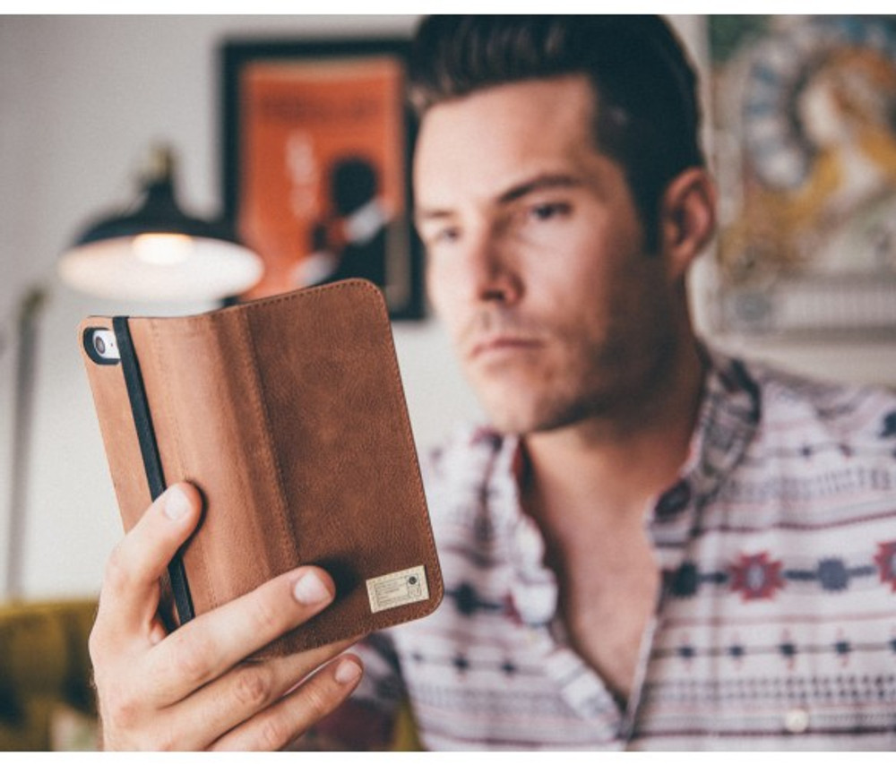 Hex Icon Wallet for iPhone 7 Plus - Brown