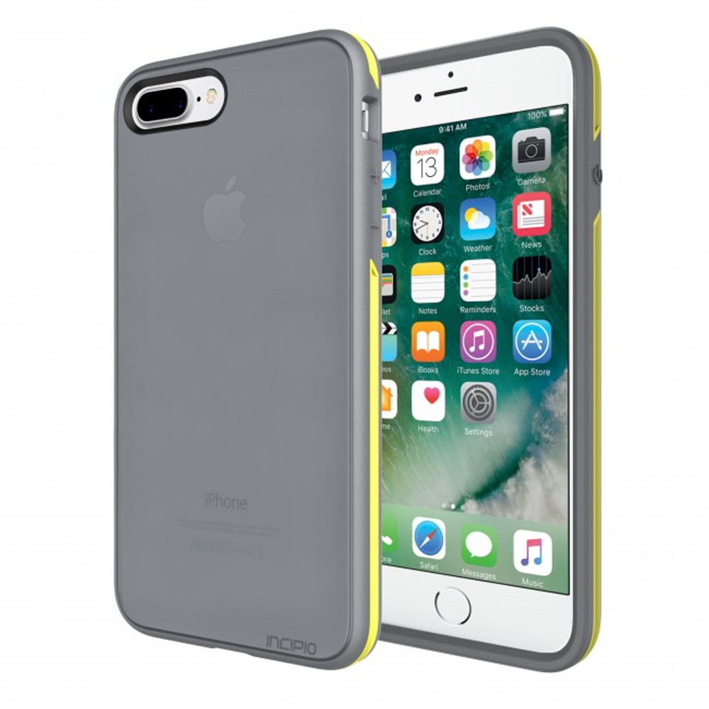 Incipio Performance Series Slim for iPhone 7 Plus - Charcoal Gray / Yellow