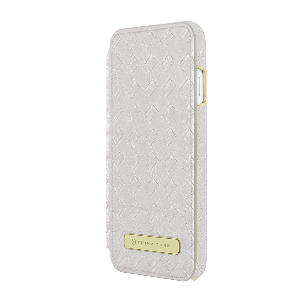 Trina Turk Basket Weave Folio for iPhone 7 Plus - Silver