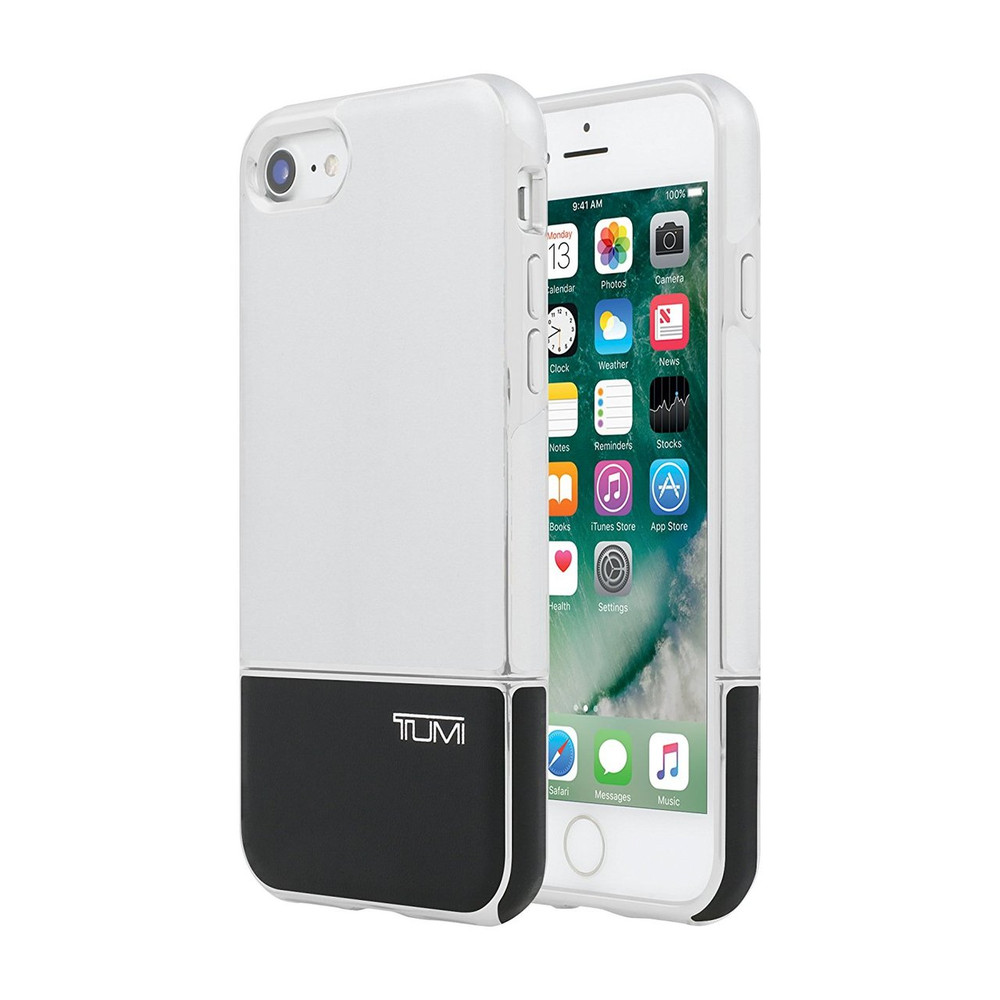 huge discount 1f2b5 76fe3 Tumi 2 Piece Slider Case for iPhone 7 - Silver / Black Leather