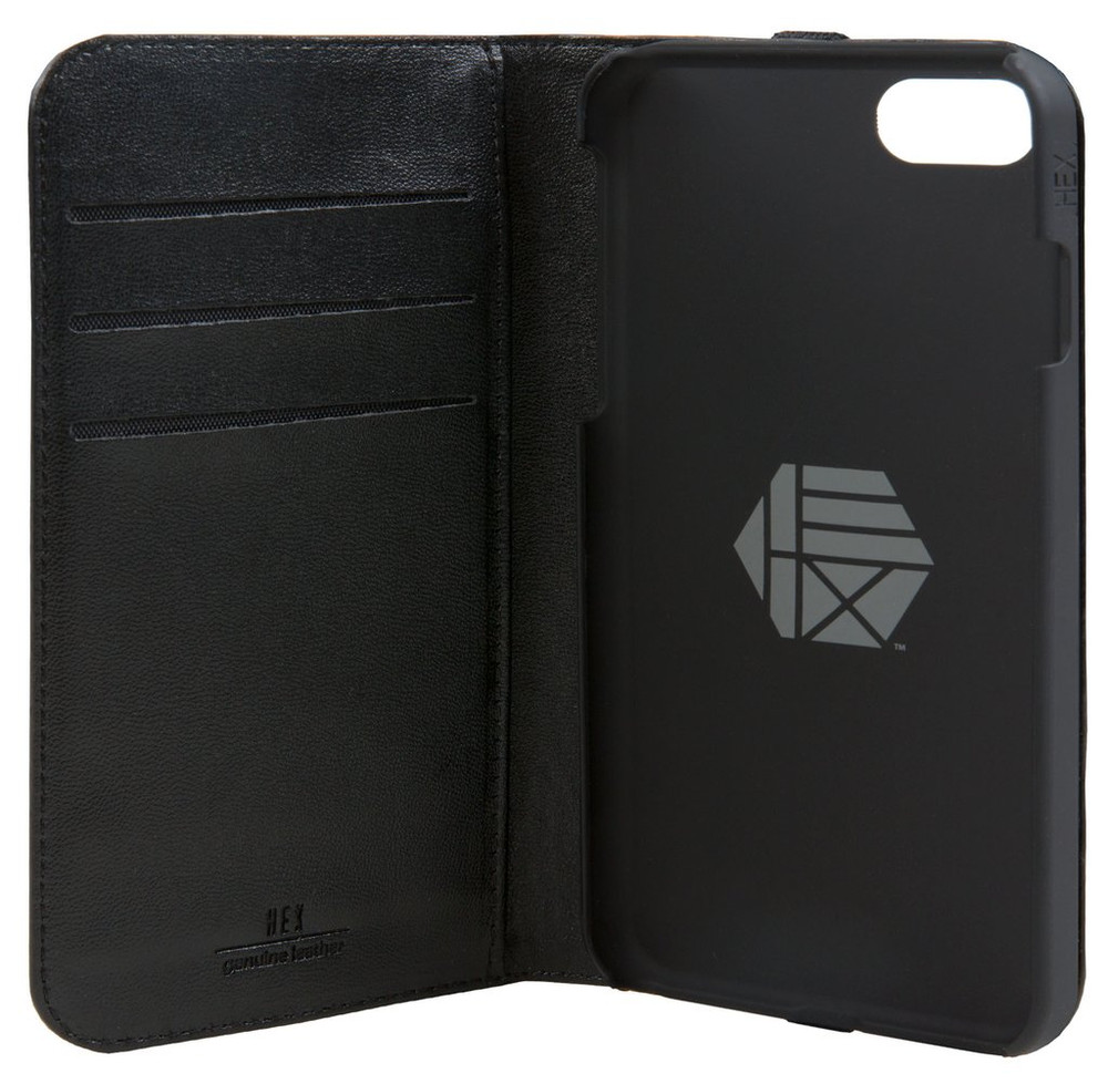 Hex Icon Wallet for iPhone 7 - Black Carbon Fiber