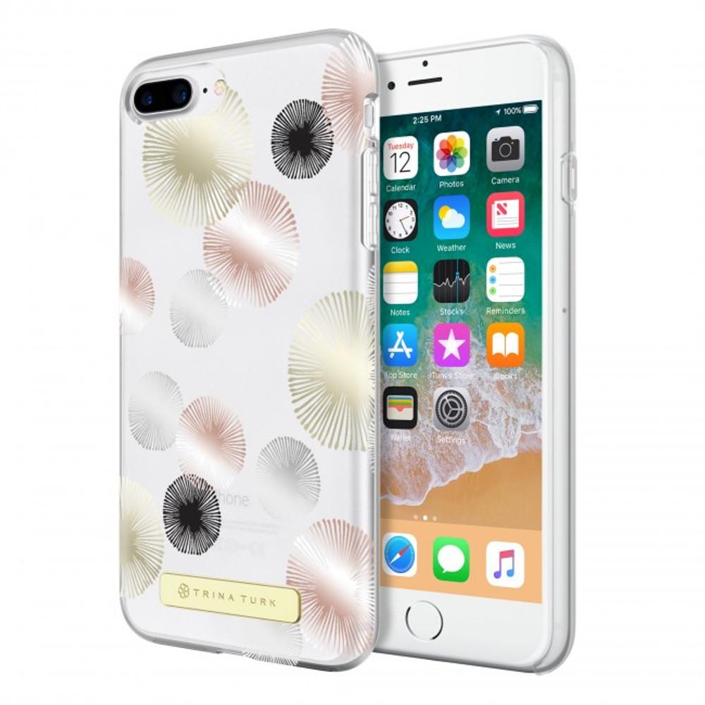 Trina Turk Translucent Case (1-PC) for iPhone 8, iPhone 7 & iPhone 6/6s - Fireworks Gold Foil/Rose Gold Foil /Silver Foil/Black/Clear