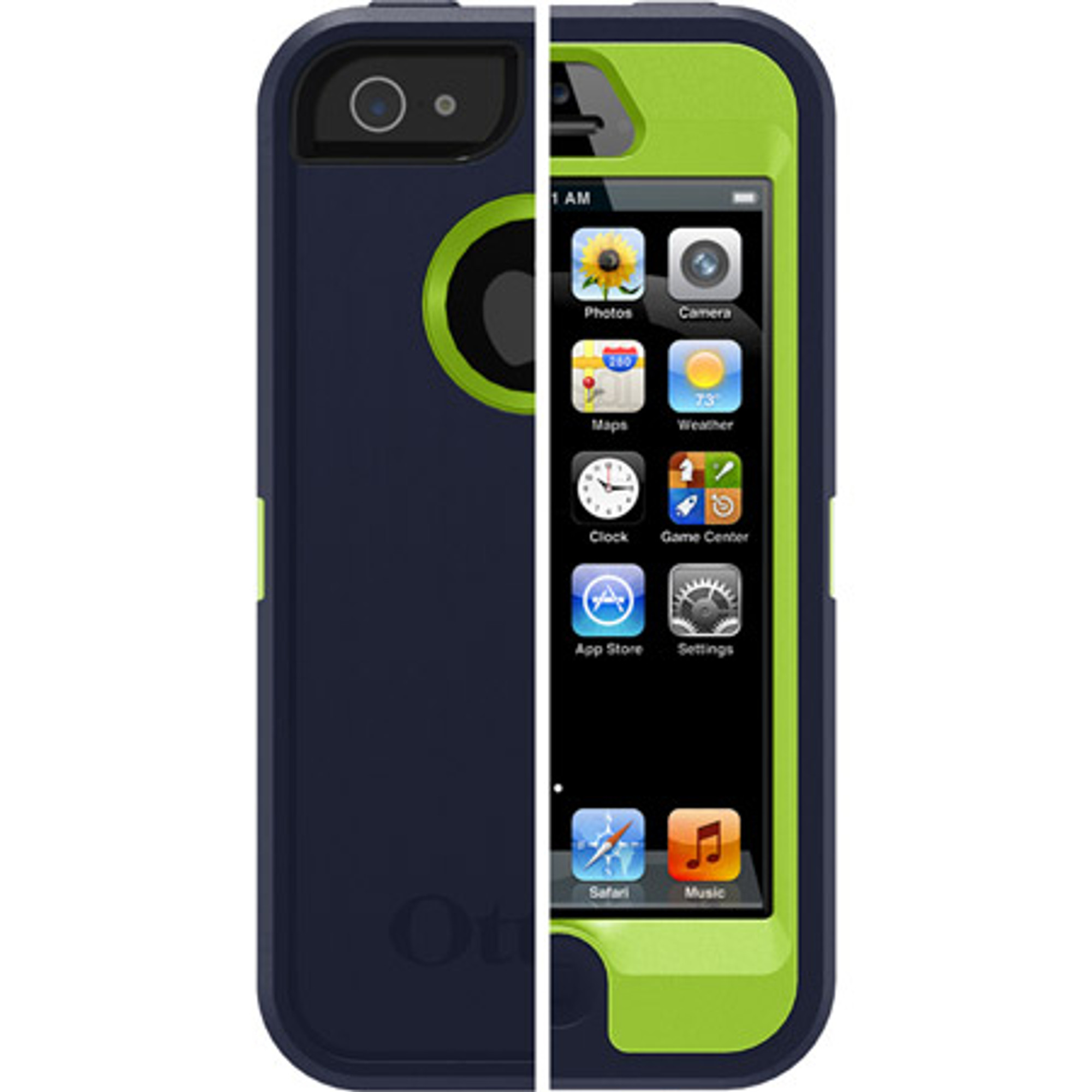 new style 5b5c5 2bbde OtterBox Defender for iPhone 5S / 5 - Admiral Blue / Green