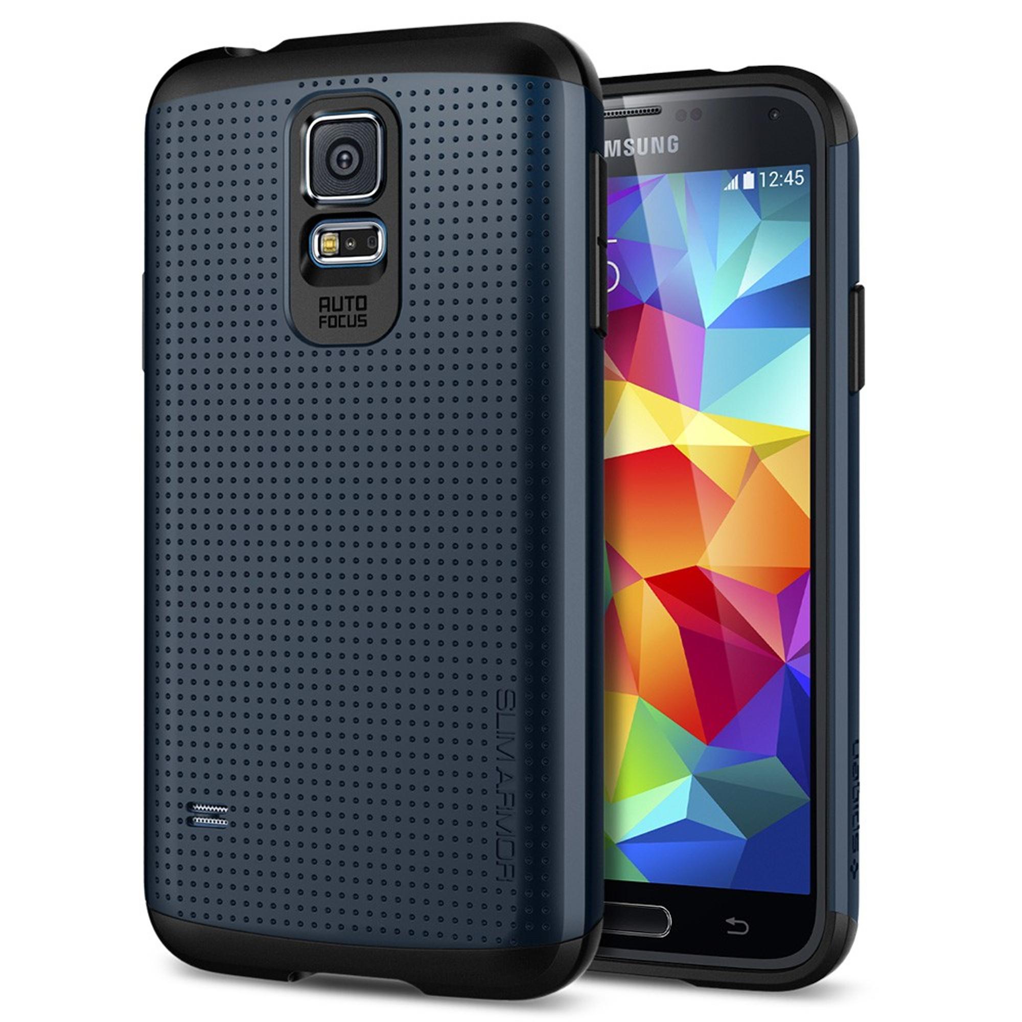 finest selection 32d8e ec6c0 Spigen Slim Armor for Samsung Galaxy S5 - Metal Slate