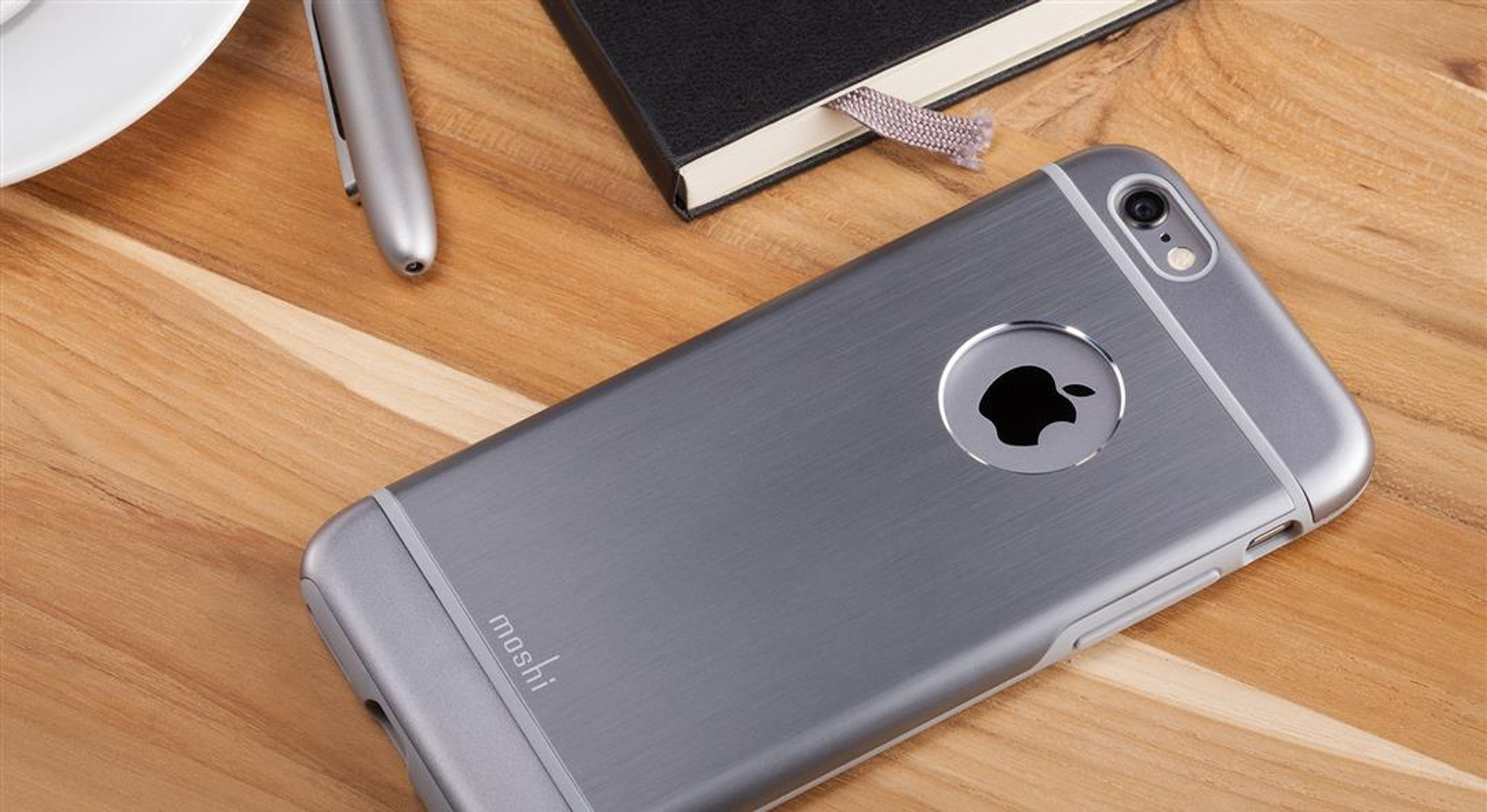 official photos c72b2 9d913 Moshi iGlaze Armour for iPhone 6S / 6 - Gunmetal Gray