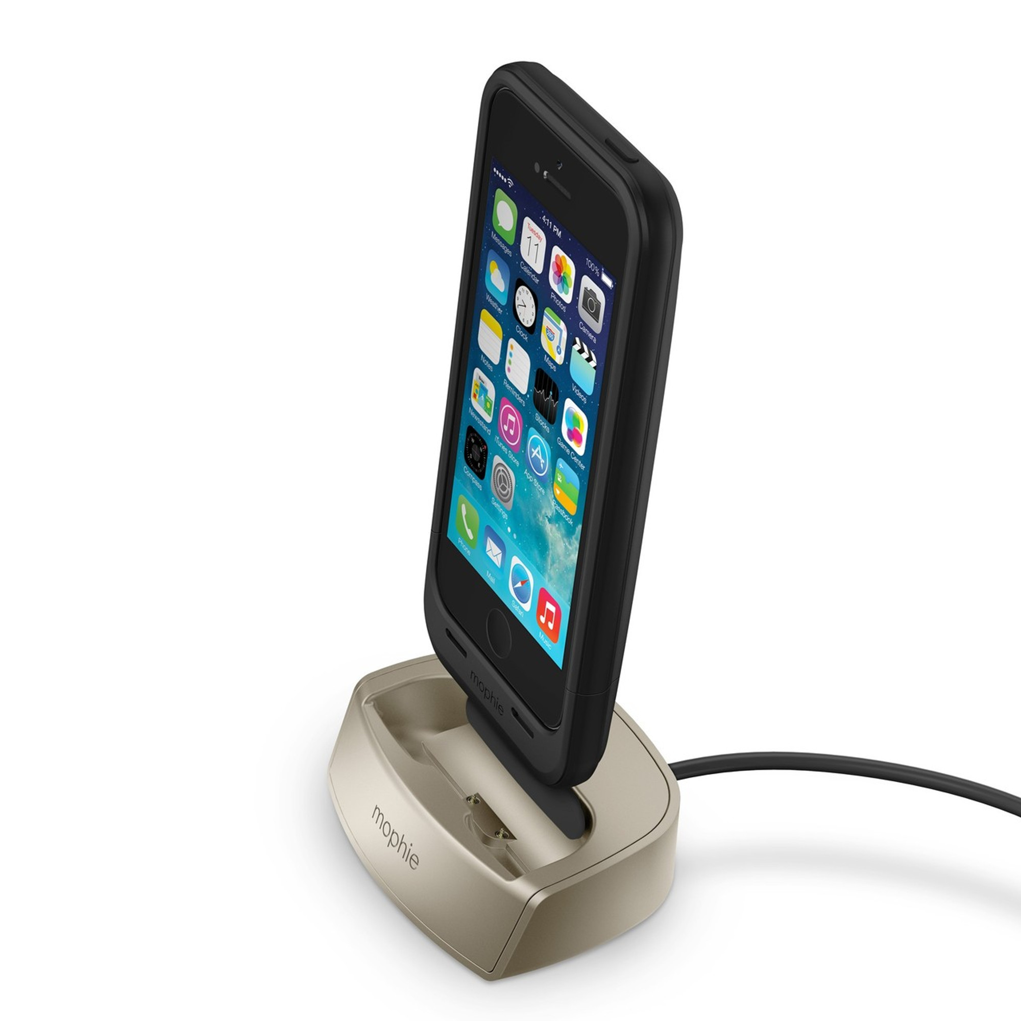 best sneakers 69aea ea7f7 mophie juice pack dock for juice pack iPhone 5s / 5 cases - Gold