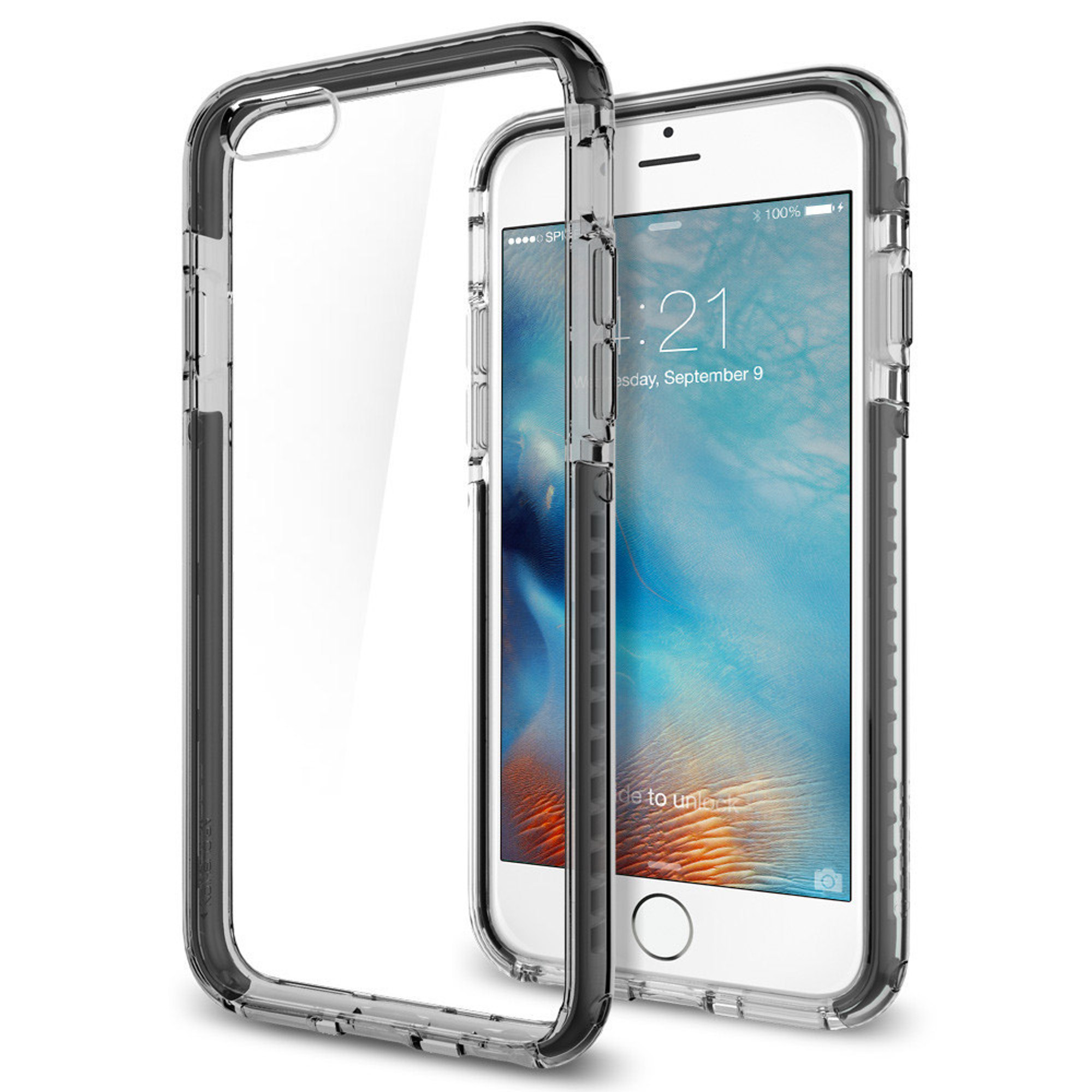size 40 8a484 bd096 Spigen Ultra Hybrid Tech Case for iPhone 6S / 6 - Crystal Gunmetal