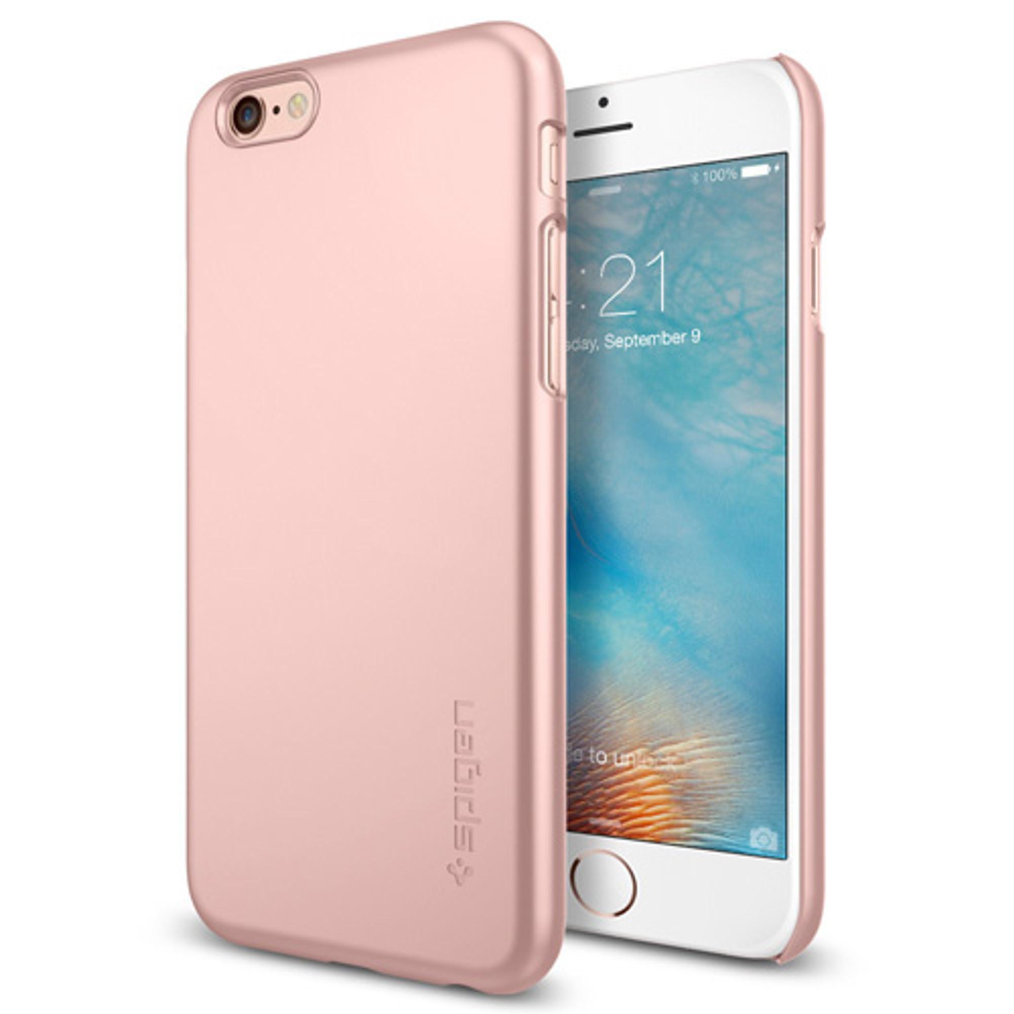 quality design b2b7f 35723 Spigen Thin Fit iPhone 6S / 6 Case - Rose Gold