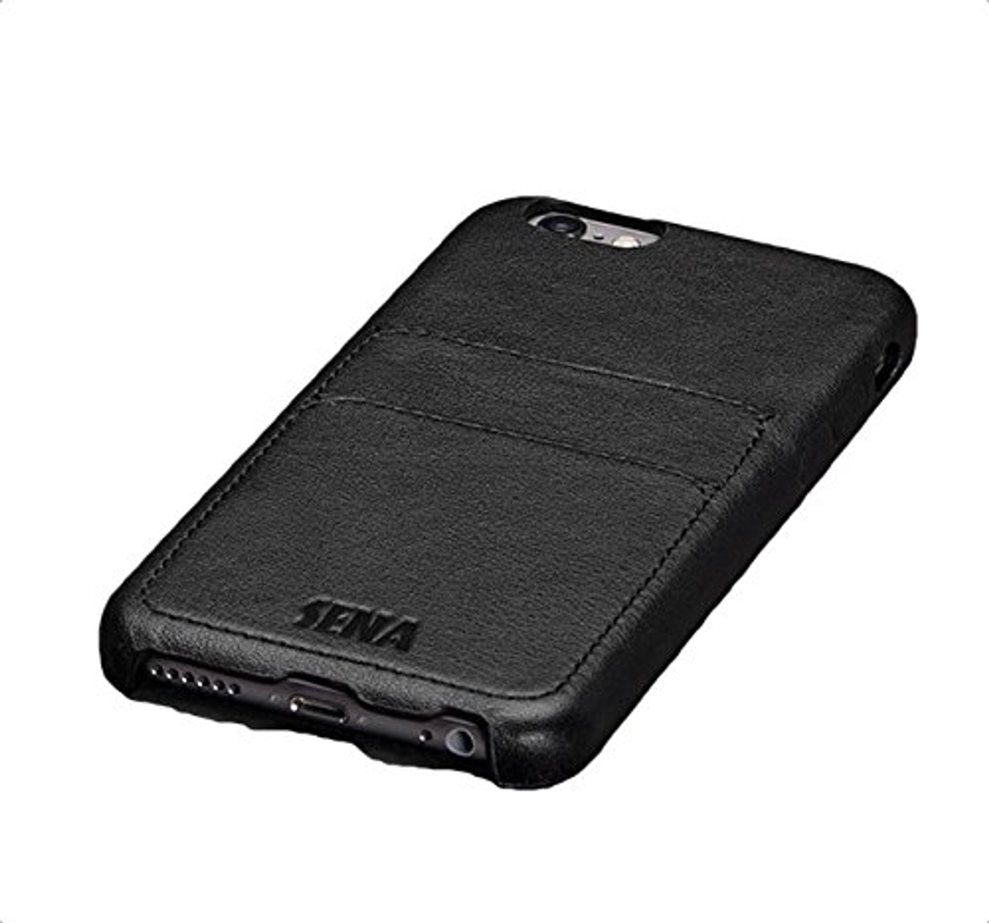 san francisco 75908 a8ad2 Sena Snap On Leather Wallet Case for iPhone 6S Plus / 6 Plus - Black
