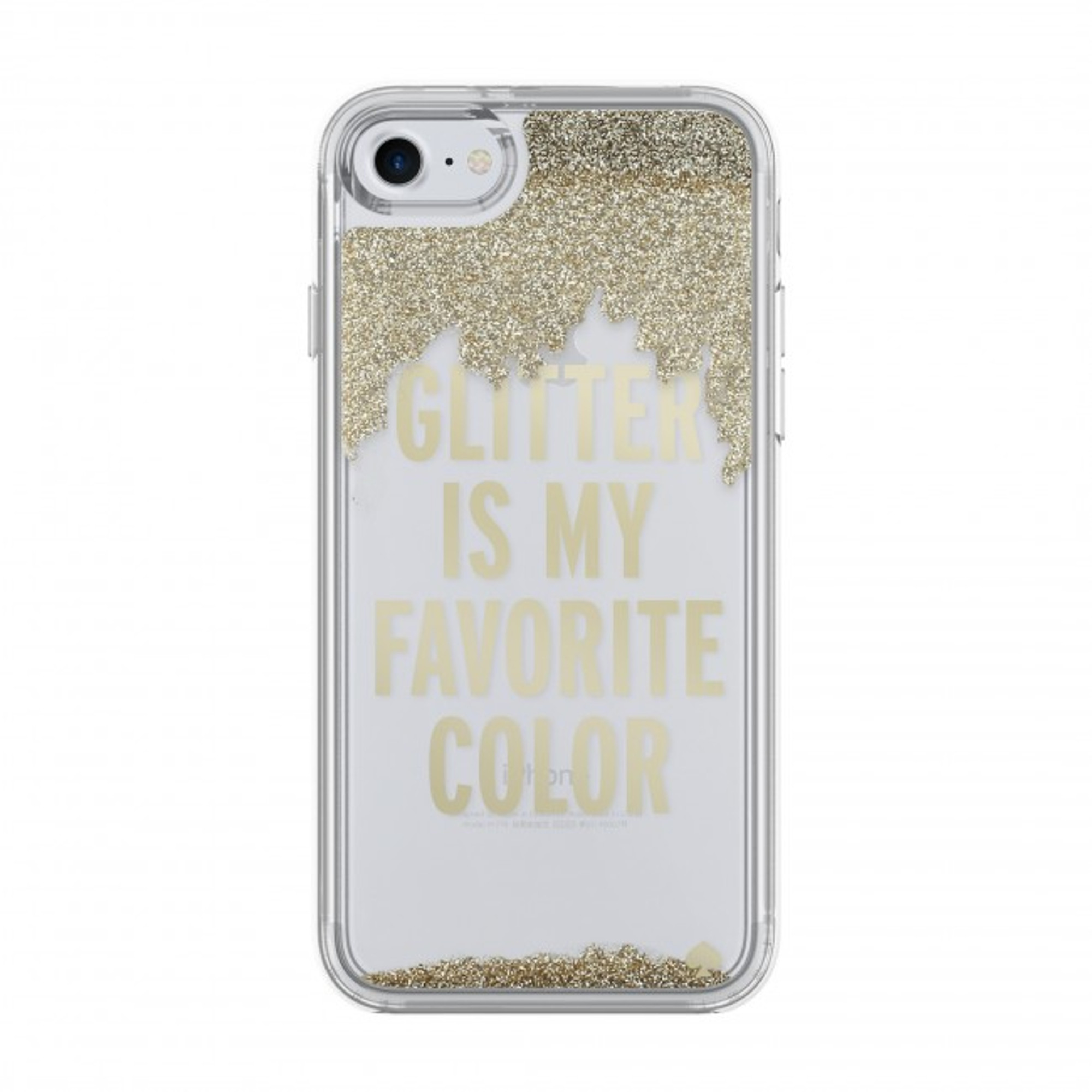 buy popular a3b1d cf907 Incipio Kate Spade New York Liquid Glitter Case for iPhone 7 - Glitter is  My Favorite Color - Gold / Clear