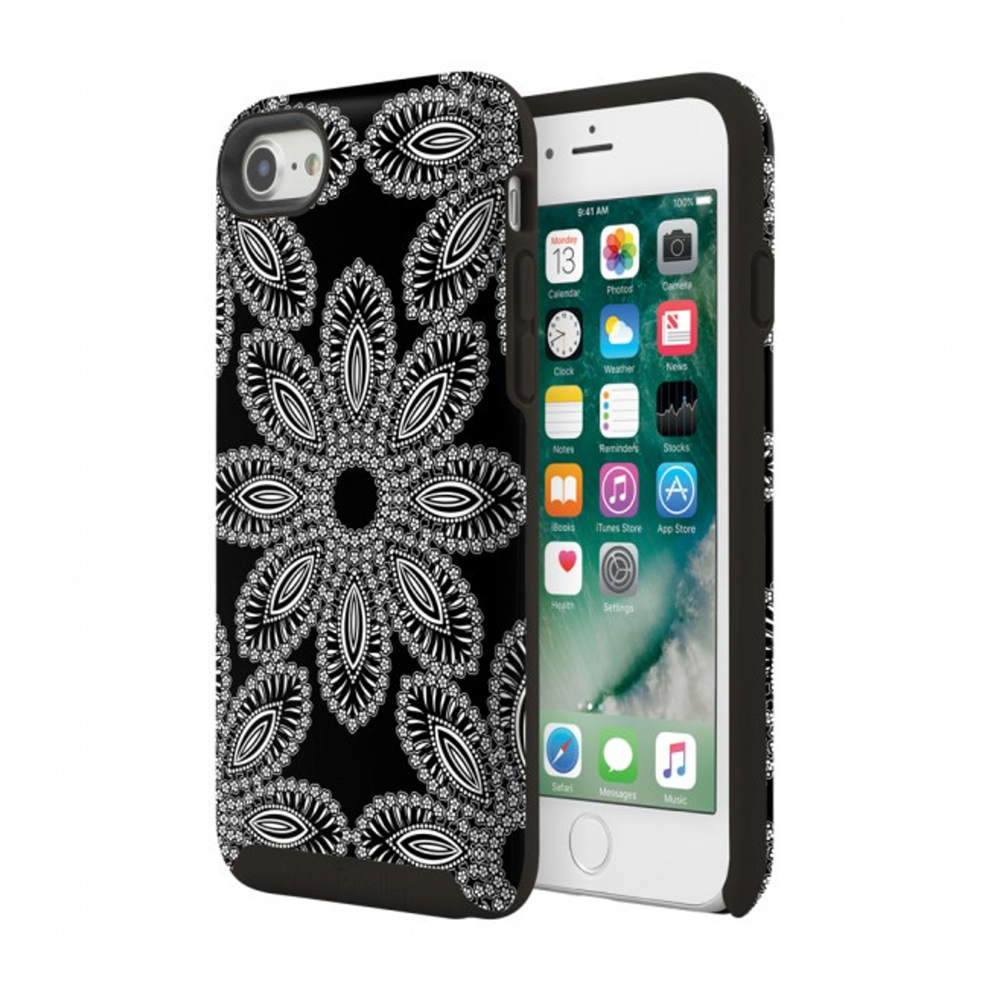 premium selection 26669 0af9f Vera Bradley Flexible Frame Case for iPhone 7, 6S / 6 - Blanco Bouquet  Black / Cream