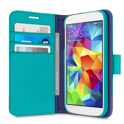 Belkin 2-IN-1 Wallet Folio Case for Samsung Galaxy S5 - Lagoon / Ink