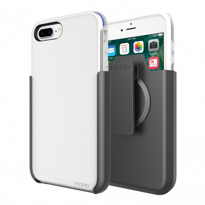 Incipio Performance Ultra Case for iPhone 7 Plus with Holster - White / Blue