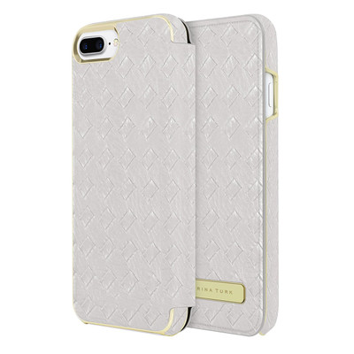 Trina Turk Basket Weave Folio for iPhone 7 - Silver