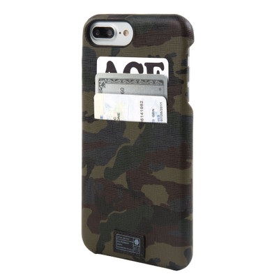Hex Solo Wallet Case for iPhone 7 Plus - Camo Leather Reflective