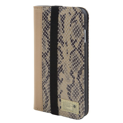 Hex Icon Wallet for iPhone 7 - Beige Snake Leather