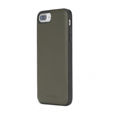 Diesel Leather Co-Mold Case for iPhone 8 Plus, iPhone 7 Plus, iPhone 6/6s Plus - Olive Green Leather