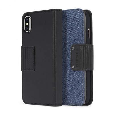 Diesel Folio Case for iPhone X - Leather / Eagle Denim