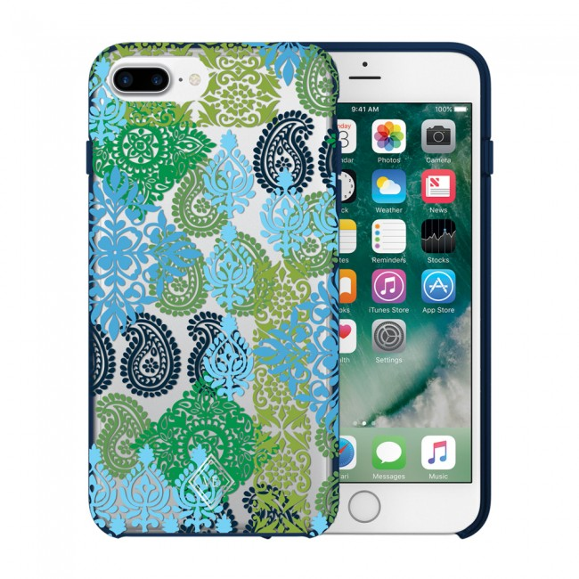 size 40 2b4bb 786cf Vera Bradley Flexible Frame Case for iPhone 7 Plus, 6 Plus, 6S Plus -  Caribbean Sea Multi Blue / Clear