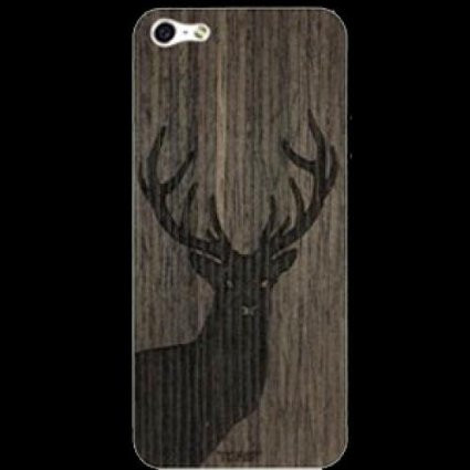 Toast Stag Wood Cover For Iphone 5s 5 Ebony
