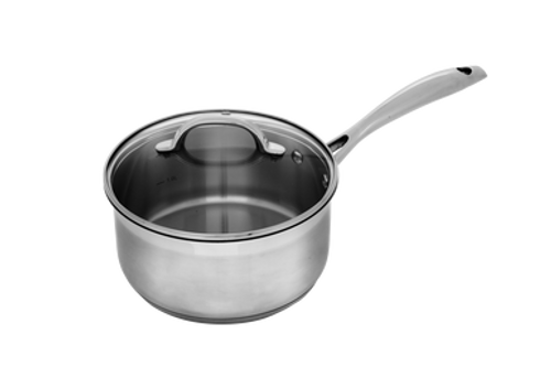 Premium Steel Induction 18cm X 8.5cm 2L Saucepan With Lid