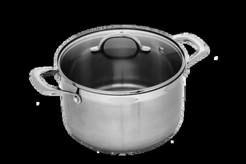 Premium Steel Induction 20cm X 13cm 4L Cooking Pot With Lid