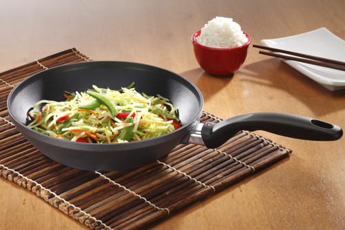 HD Nonstick INDUCTION Wok Stir Fry Pan 26cm x 5cm  (19cm FLAT SOLID BASE)