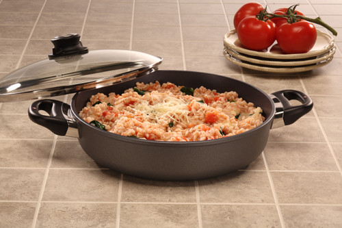 HD Nonstick INDUCTION SAUTEUSE WITH GLASS VENTED LID 28cm X 6cm 3.5L