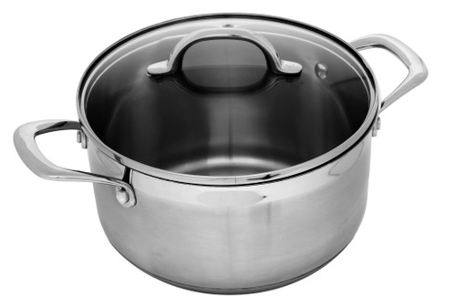 PREMIUM STEEL INDUCTION 26CM X 22CM 11.0L STOCKPOT WITH LID