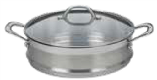 PREMIUM STEEL UNIVERSAL STEP 16/18/20CM STEAMER WITH LID