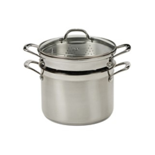 PREMIUM STEEL INDUCTION 4PC MULTI POT/PASTA SET