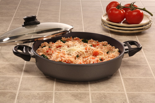 HD Nonstick SAUTEUSE WITH GLASS VENTED LID 28cm X 6cm 3.5L