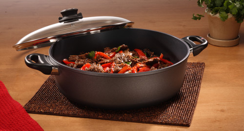 HD INDUCTION Nonstick BRAISER  WITH GLASS VENTED LID 32cm X 10cm 6.8L