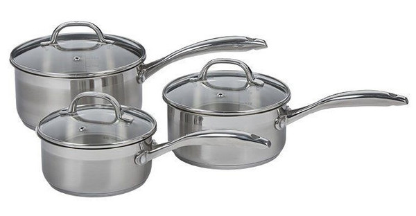 PREMIUM STEEL INDUCTION 3 PIECE SAUCEPAN SET