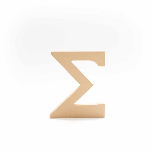 Greek Wooden Letter Sigma
