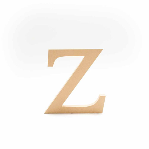 Greek Wooden Letter Zeta