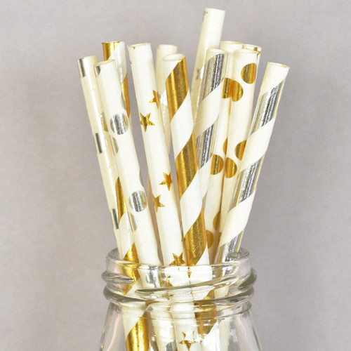 Straws-Metallic (Set of 25)