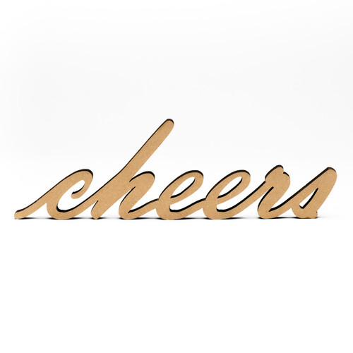 Wood-Cheers Script-3/8""