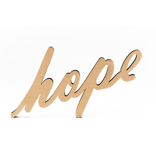 Wood-Hope Script-3/8""