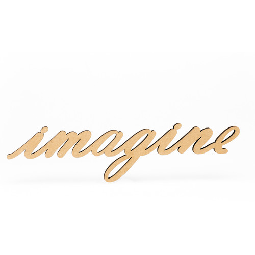 Wood-Imagine Script-3/8""