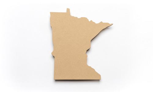 State of Minnesota Unfinished Wood Shape-3/8""
