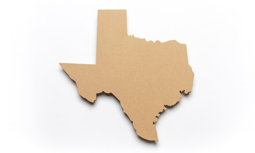 State of Texas Unfinished Wood-3/8""