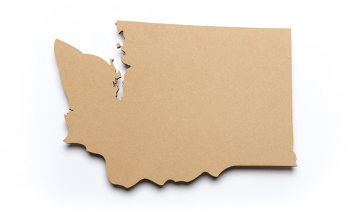 State of Washington Unfinished Wood-3/8""