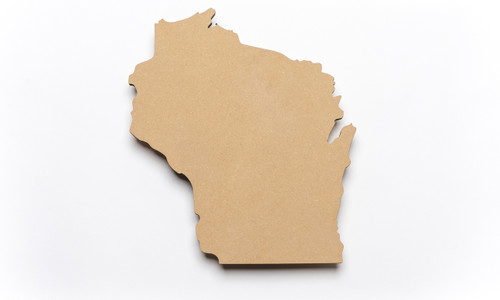 State of Wisconsin Unfinished Wood-3/8""