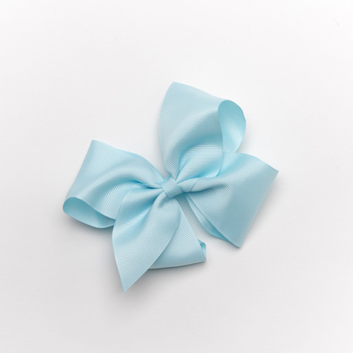 "Grosgrain Bow-5"" in Light Blue"